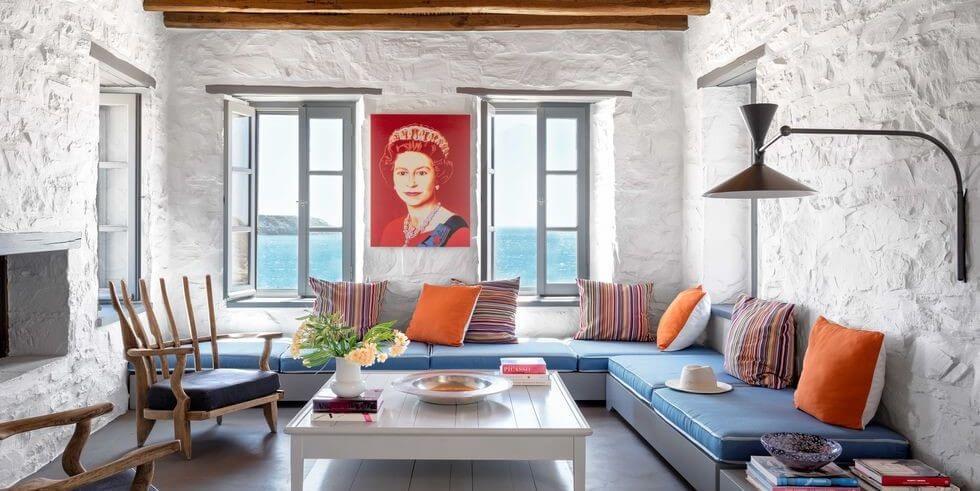 Greek Island Living Room