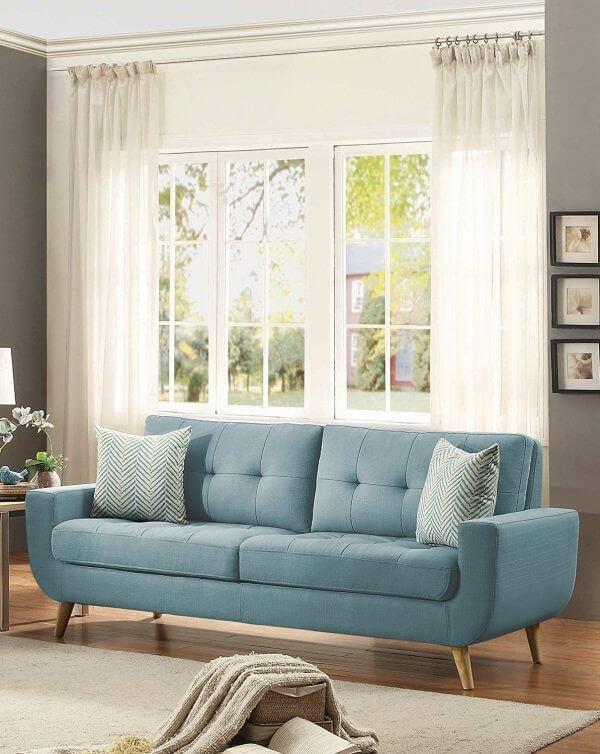 Mid Century Modern Style Tufted Sofa